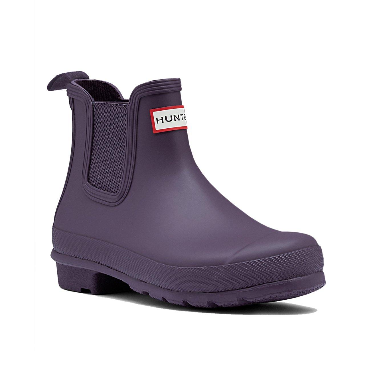 Womens Hunter Original Chelsea Wellingtons Waterproof Rain Ankle Boots B01JOU17HQ 5 M US|Purple Urchin