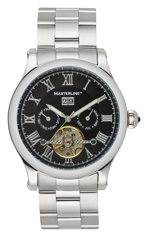 Masterline1966 Armbanduhr Herren Automatik * Black * Glasboden Edelstahl ML06090010