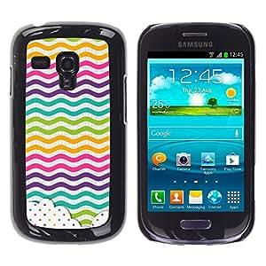 iKiki Tech / Estuche rígido - Dot Waves Lines Rainbow Color - Samsung Galaxy S3 MINI NOT REGULAR! I8190 I8190N