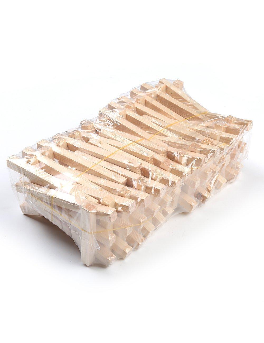 pack of 24 mini cavalletto in legno 12cm Meeden