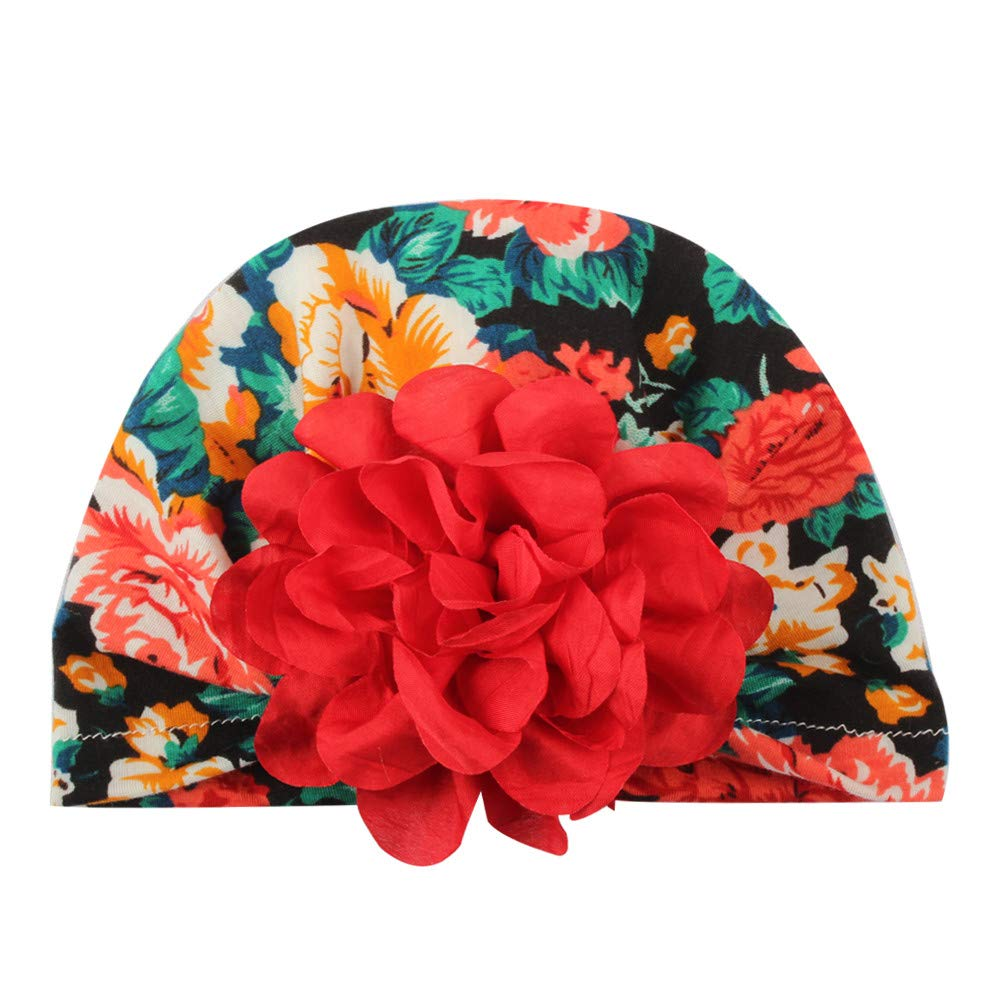 Baby Girls Beanie Cap Vinjeely Infant Baby Floral Flower Hat Headgear Headwear Cap for Photograph Daily Wear