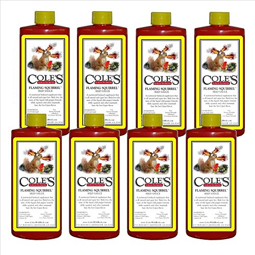 Cole's FS16 16 oz Flaming Squirrel Deterrent Seed Sauce - Quantity 8