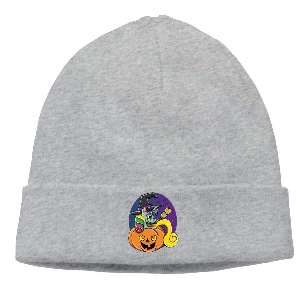 Funny Halloween Unicorn Witch Skull Hats Beanie Knit Caps for Unisex Winter