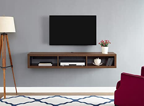 Amazon Com Martin Furniture Floating Tv Console 60 Columbian Walnut Furniture Decor