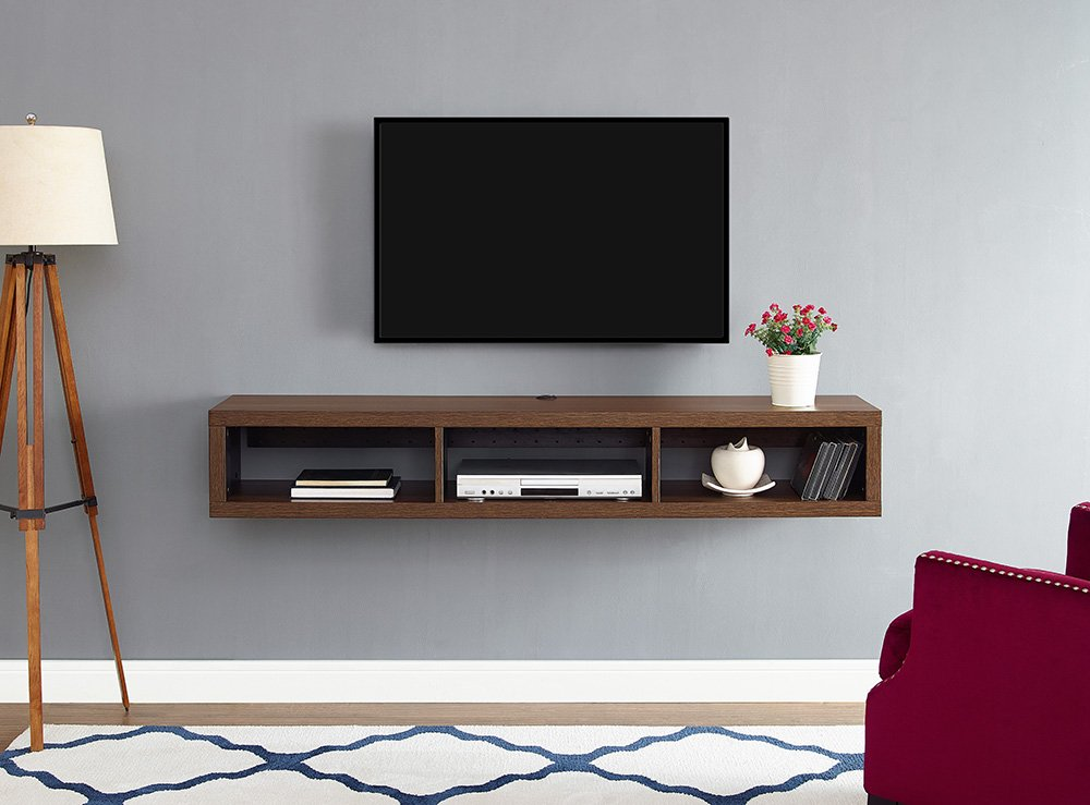 Martin Furniture  Floating TV Console, 60'', Columbian Walnut by Martin Furniture
