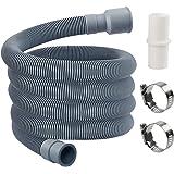 MyLifeUNIT manguera de drenaje para lavadora, kit de extensión de manguera de drenaje con 1 adaptador de extensión y 2…