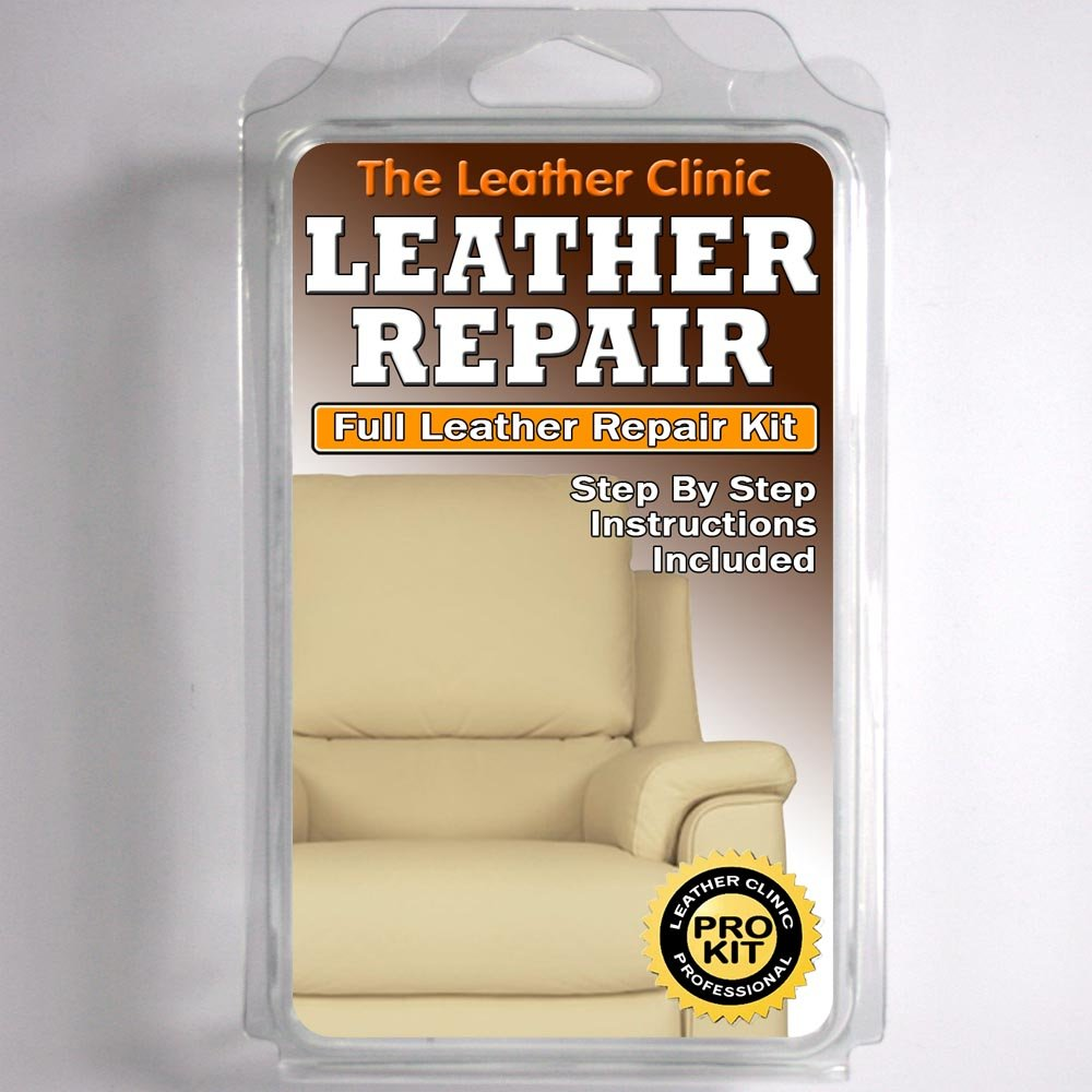 Merveilleux LIGHT CREAM Leather Sofa U0026 Chair Repair Kit For Tears Holes Scuffs With  Colour Dye: Amazon.co.uk: Kitchen U0026 Home