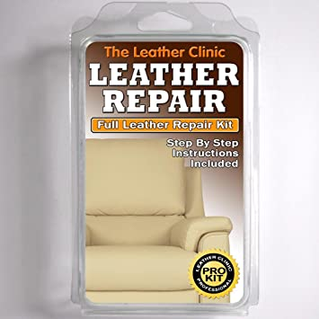 LIGHT CREAM Leather Sofa U0026 Chair Repair Kit For Tears Holes Scuffs With  Colour Dye