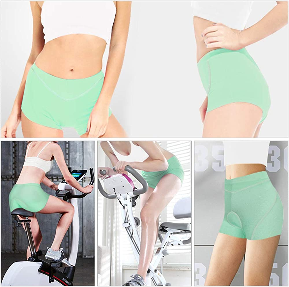 CYCWEAR Cycling Underwear Shorts Womens 3D Padded Bicycle Bike Riding Shorts for Outdoor Sport Indoor Exercise Bike