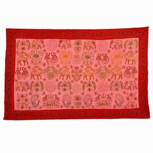 (Little India Stylish Hand Embroidered Cloth Wall Hanging 505)