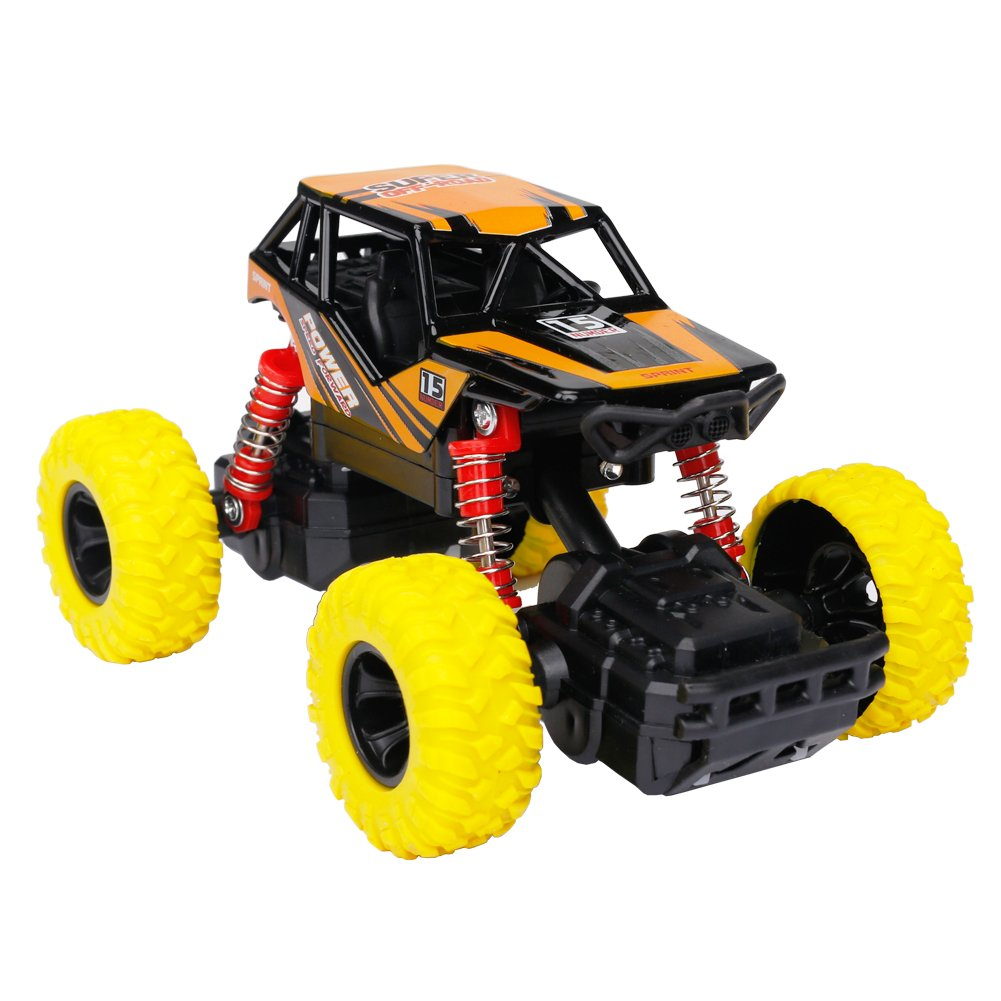 68ebd10fd73 Think Wing 4WD Pull Back Monster Trucks with Music & Light High Speed  Die-cast