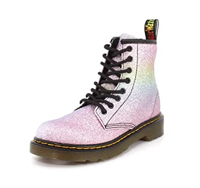 8dee65c25420a Amazon.com | Dr. Martens Kid's Collection Girl's 1460 Patent Glitter ...