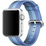 XMDirect ウーブンナイロン スポーツ ベルト 全機種対応 for Apple Watch Series 1 / Series 2 / Nike+ 【42mm、タホブルー】