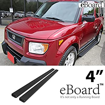 eBoard-Running-Boards-Black-4-Fit-2003-2011-Honda-Element-Sport-Utility-4-Door-Excl-SC-Nerf-Bars-Side-Steps-Side-Bars