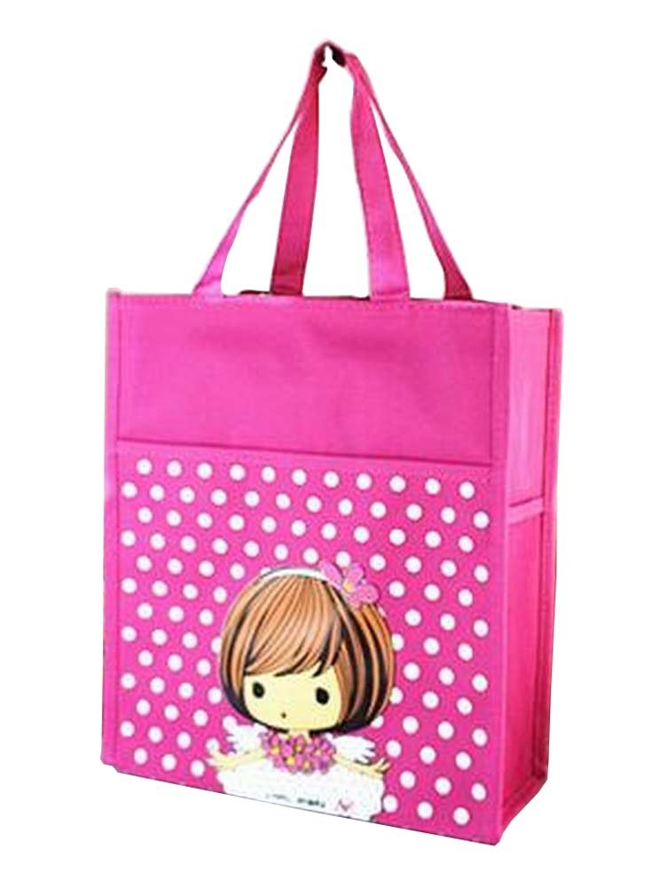 [ Girl ]学生チュートリアルバッグひな形トートバッグハンドバッグ旅行バッグ   B07F8JKLZW