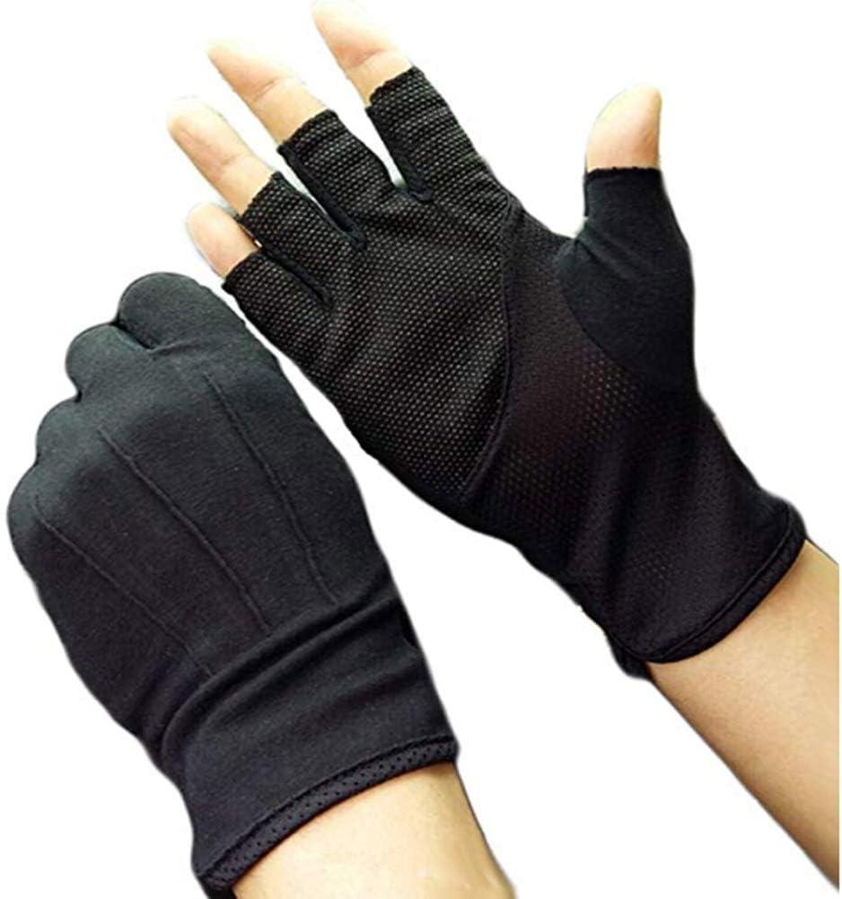 PRO-SERIES Short Finger Fingerless Gloves Gel Padded Palm RED//WHITE Cycling
