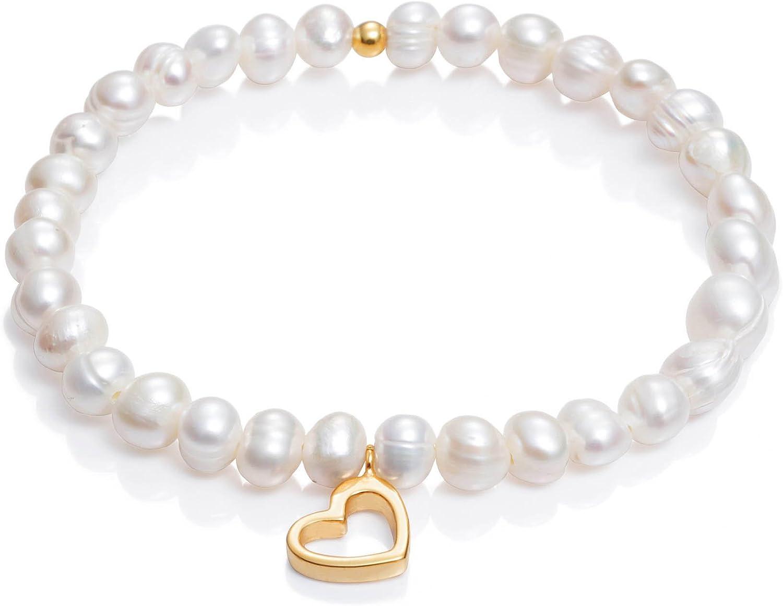 Pulsera Viceroy Comunión Niña 6005P100-60 Perlas y Corazón de Plata de Ley