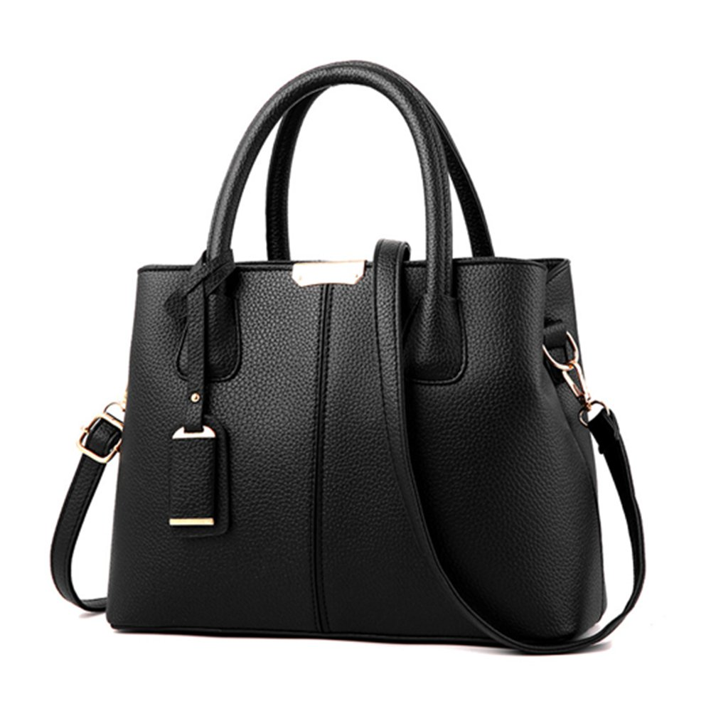 CYHTWSDJ Womens Purses and Handbags Ladies Designer Satchel Tote Bag Shoulder Bags (black 1)