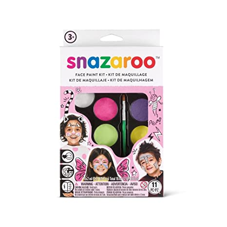 Snazaroo cara. expertos Party Set, schminkp alette con 2 pinceles: Amazon.es: Belleza