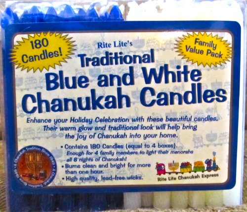 Rosenthal Candle (180 Rite Lite Traditional Chanukah Candles)