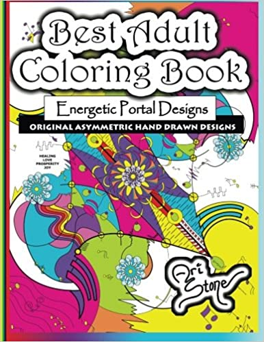amazoncom best adult coloring book energetic portal designs 9780692336144 ari stone books - Best Adult Coloring Books