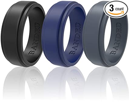 Amazon Com Silicone Wedding Rings For Men And Women 3 Pack Wedding