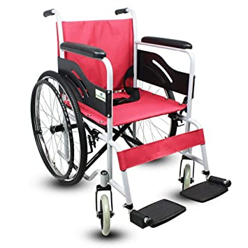 DPPAN Drive Medical Transport Silla de ruedas Plegado ligero, tubo de acero fuerte que levanta
