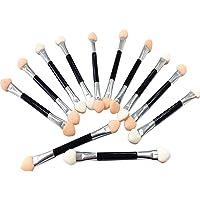 ZHOUBA 12 Stks Dubbele Hoofden Oogschaduw Borstels Draagbare Zachte Spons Cosmetische Make Up Borstels Tool