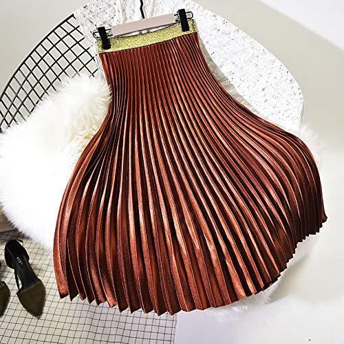 Elástica Las Faldas De Cintura Alta Falda Mujer Larga Plisada Qzbtu Para Invierno Mujeres nAZX8Xq