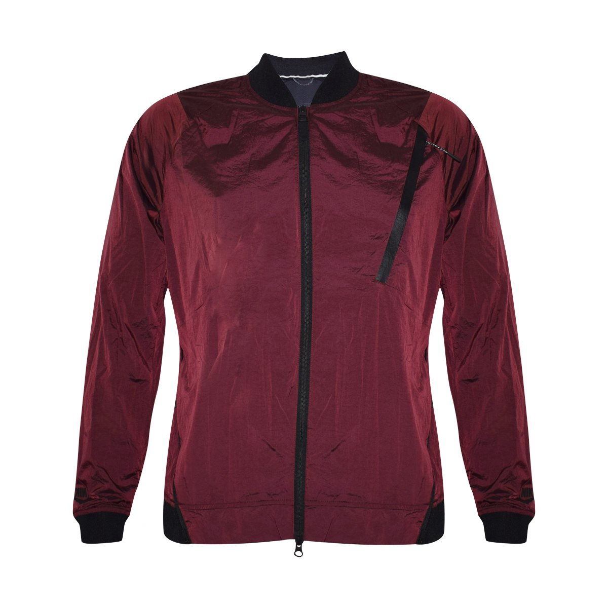 NIKE Tech Hypermesh Windrunner Varsity Jacket 832191-677 (Red/Black, Large) by NIKE