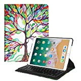 Fintie iPad Pro 10.5 Keyboard Case - 360 Degree Rotating Stand Cover Built-in Wireless Bluetooth Keyboard Apple iPad Pro 10.5 inch 2017 Tablet, Love Tree
