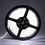 LEDMO LED Strip Lights, SMD 2835 Non-waterproof LED Strip DC12V 600LEDs 16.4Ft 6000K 15Lm/LED High CRI80 LED Light Strips 3 times brightness than SMD3528 LED Strip White