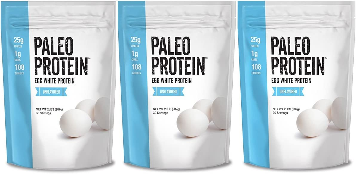 Julian Bakery Paleo Thin Protein Powder | Egg White | Unflavored | 25g Protein | Soy-Free | GMO-Free | Three 2 LBS Bags | 90 Servings | 3 Pack
