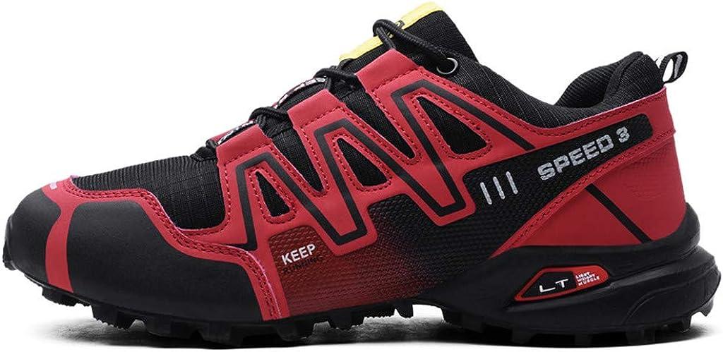 Logobeing Zapatillas de Senderismo Hombre Aire Libre y Deporte Zapatillas de Malla Transpirables Zapatillas de Trabajo Ultraligeras y Antideslizantes Trainers