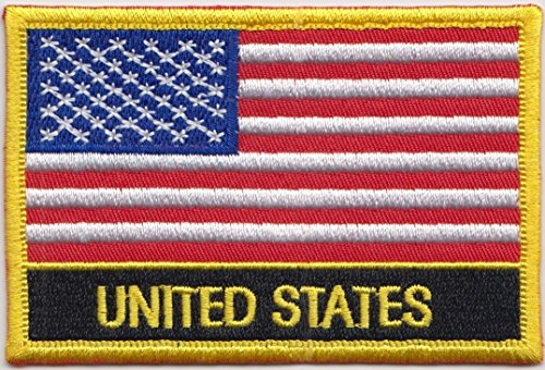 (United States of America USA Country Flag Embroidered Blazer Badge Patch)