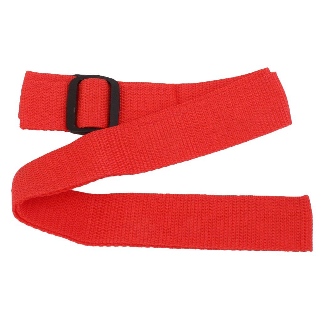 1pc Cinturón de Cochecito Correa de Carro Bebé Portátiles Ajustables - Roja Generic