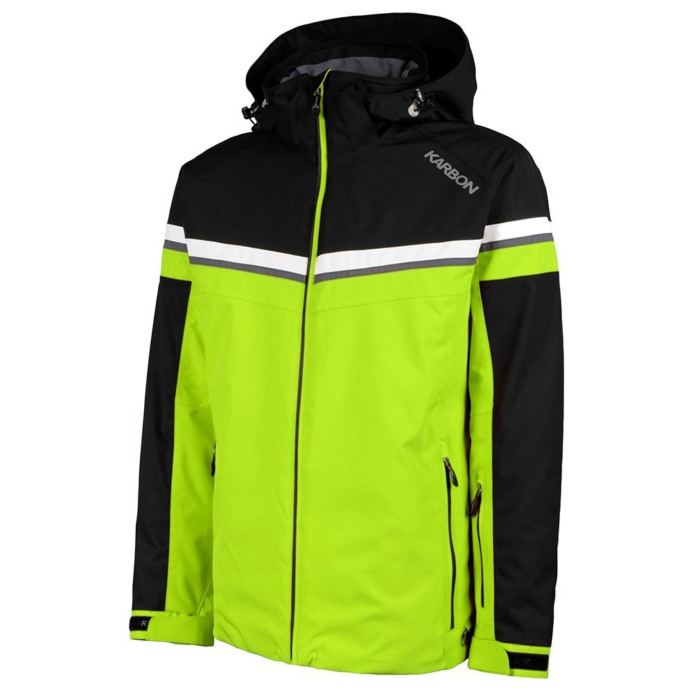 KARBON OUTERWEAR メンズ B0748XX7Q4 Large|Lime/Arctic White/Charcoal Lime/Arctic White/Charcoal Large