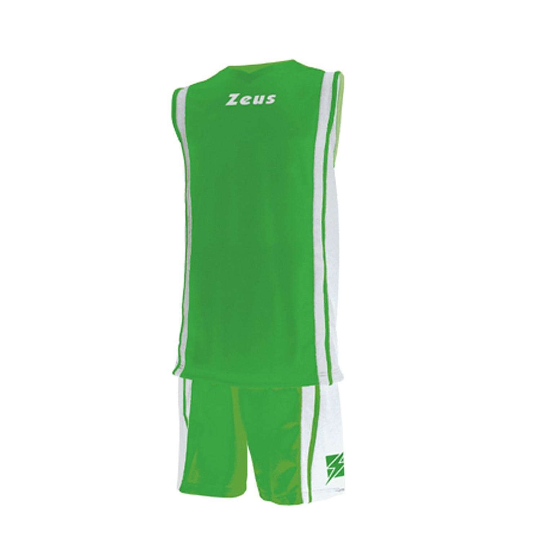 ZEUS KIT BOZO BASKETBALL SHIRT/& SHORTS 100/% POLYESTER GREEN//WHITE