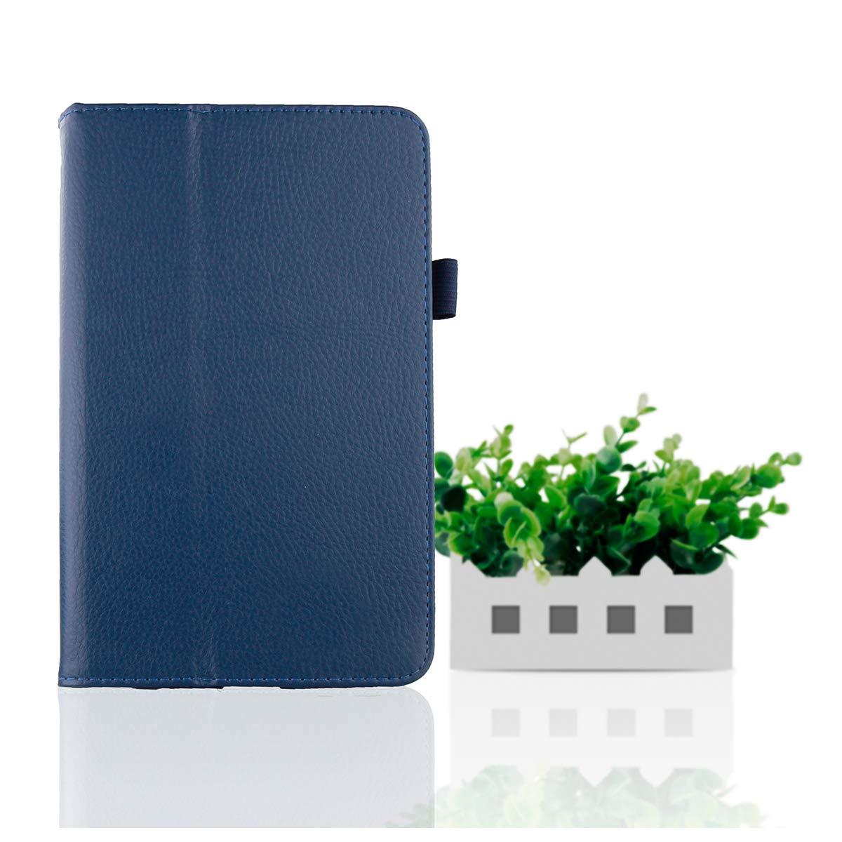 LG G Pad 7.0 V400 プレミアム PUレザー フリップケース ケースリストレザーケース カード付き C605-5Q-917  ダークブルー B07LFF9JCQ