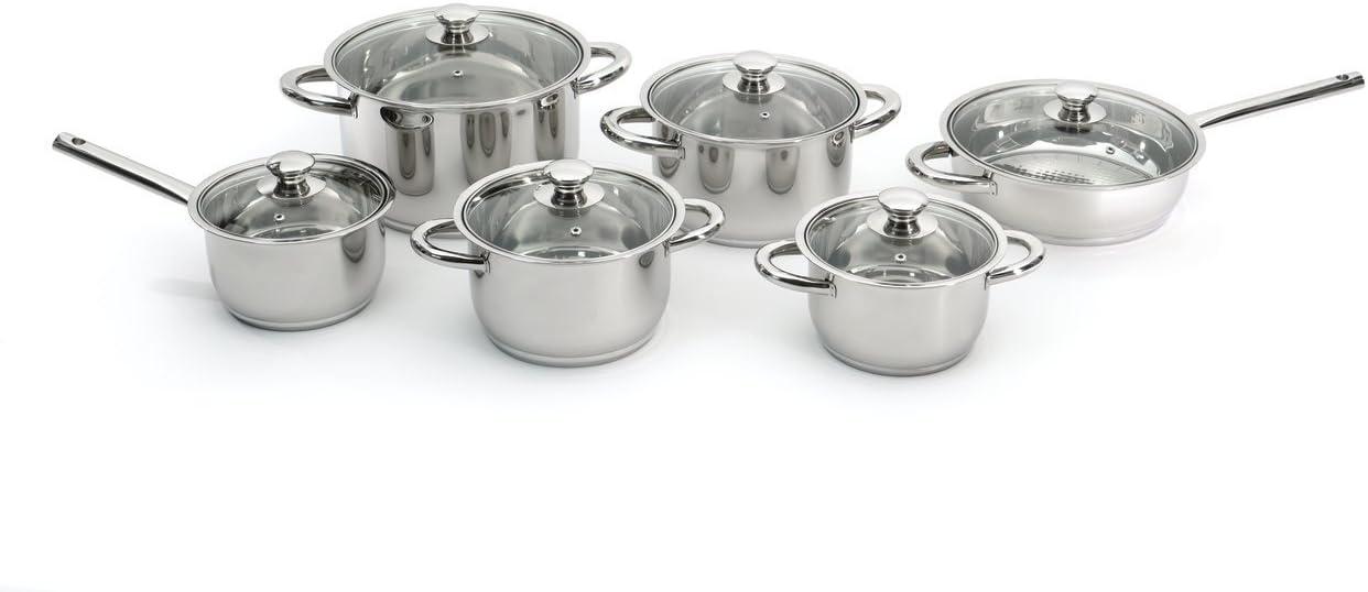 BergHOFF 12 Piece Vision Premium Cookware Set, Silver