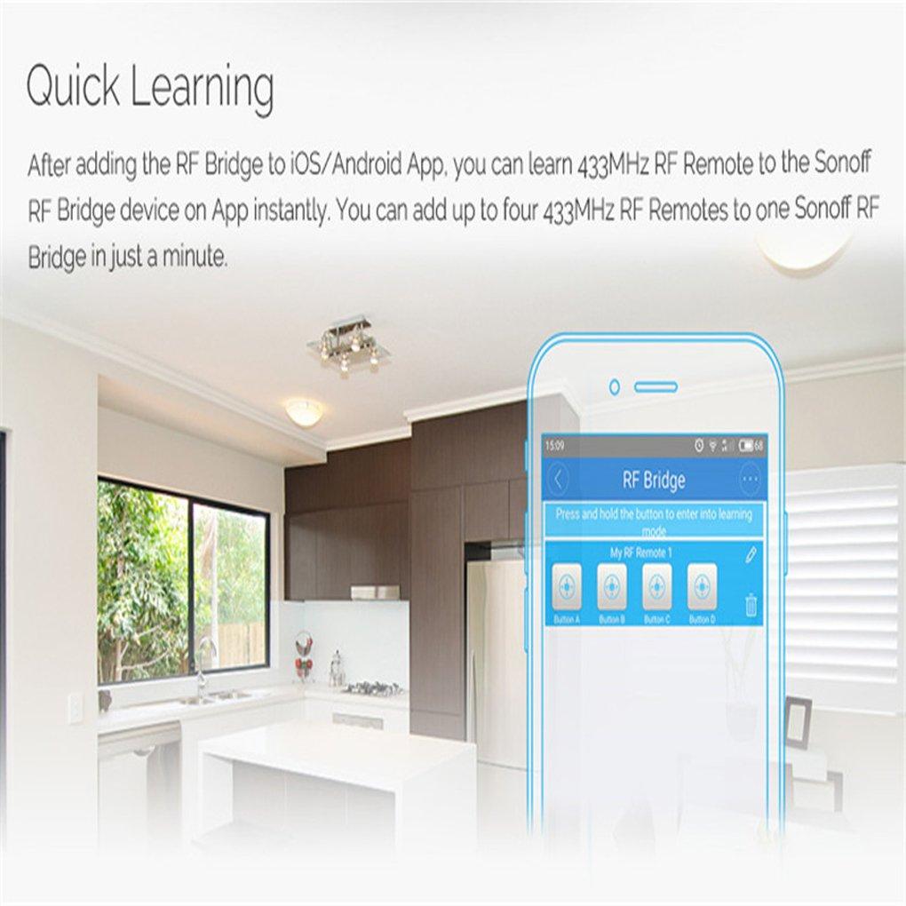 Sonoff PIR2 PIR Sensor 433Mhz RF PIR Sensor Smart Home Alarma Seguridad Sensor infrarrojo del cuerpo humano: Amazon.es: Electrónica