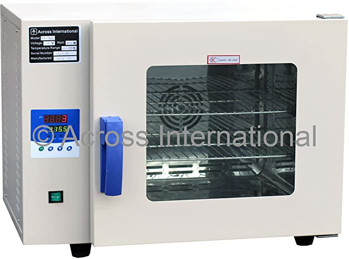 """Across International FO19013.110 Stainless Steel Lab Digital Forced Air Convection Drying Sterilizing Oven 110V, 50/60 Hz, 300W, 200 Degree C, 10"""" x 9"""" x 10"""", 0.5 cu.ft."""