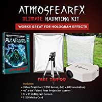 AtmosfearFX Phantasms DVD Ultimate Haunting Kit, Includes Translucent Screen, Hologram Screen With Stand Kit and Free Tripod