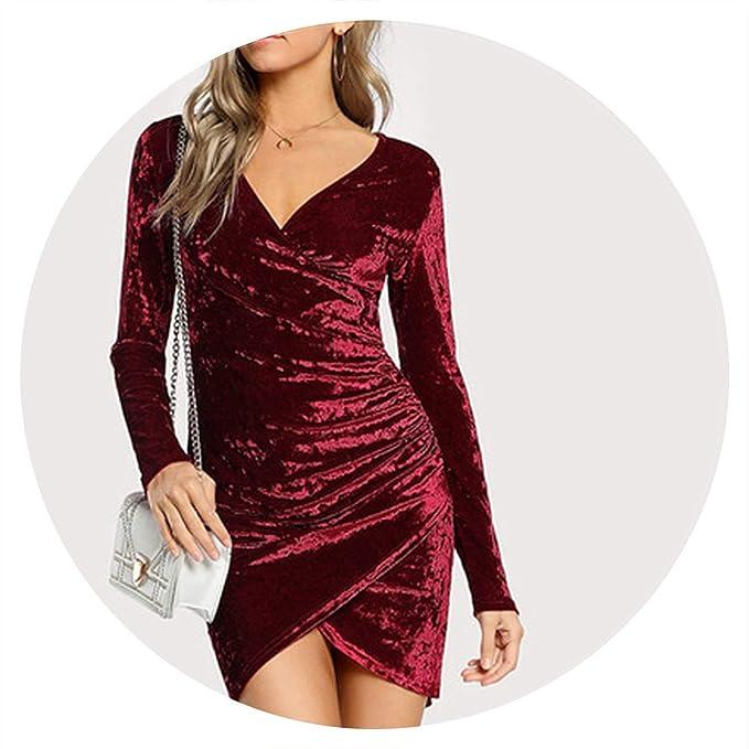 Amazon.com: Fantasy-Lilac - Vestido de terciopelo arrugado ...