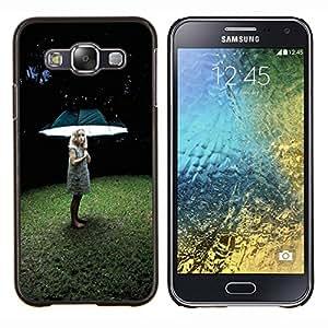 EJOOY---Cubierta de la caja de protección para la piel dura ** Samsung Galaxy E5 E500 ** --Muchacha ligera profundo hierba del verano