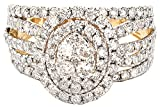 2.00ctw Round Diamond (H-1 color , i1 - i2 Clarity) Fashion Ring In 14k Gold