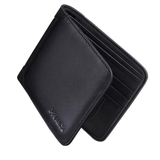 15 opinioni per E-PRANCE Portafogli, Nero Uomo Morbido Vera Pelle Portafoglio Carte di credito