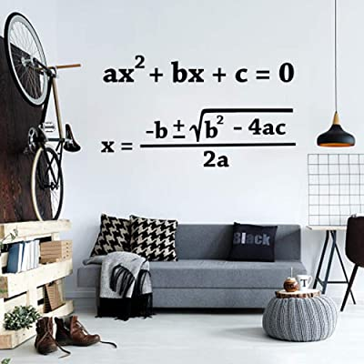 J6Mall Open School Quadratic Formula Wall Sticker Math Vinyl Wall Stickers Teacher Education Students Wall Decor Classroom Deco: Kitchen & Dining