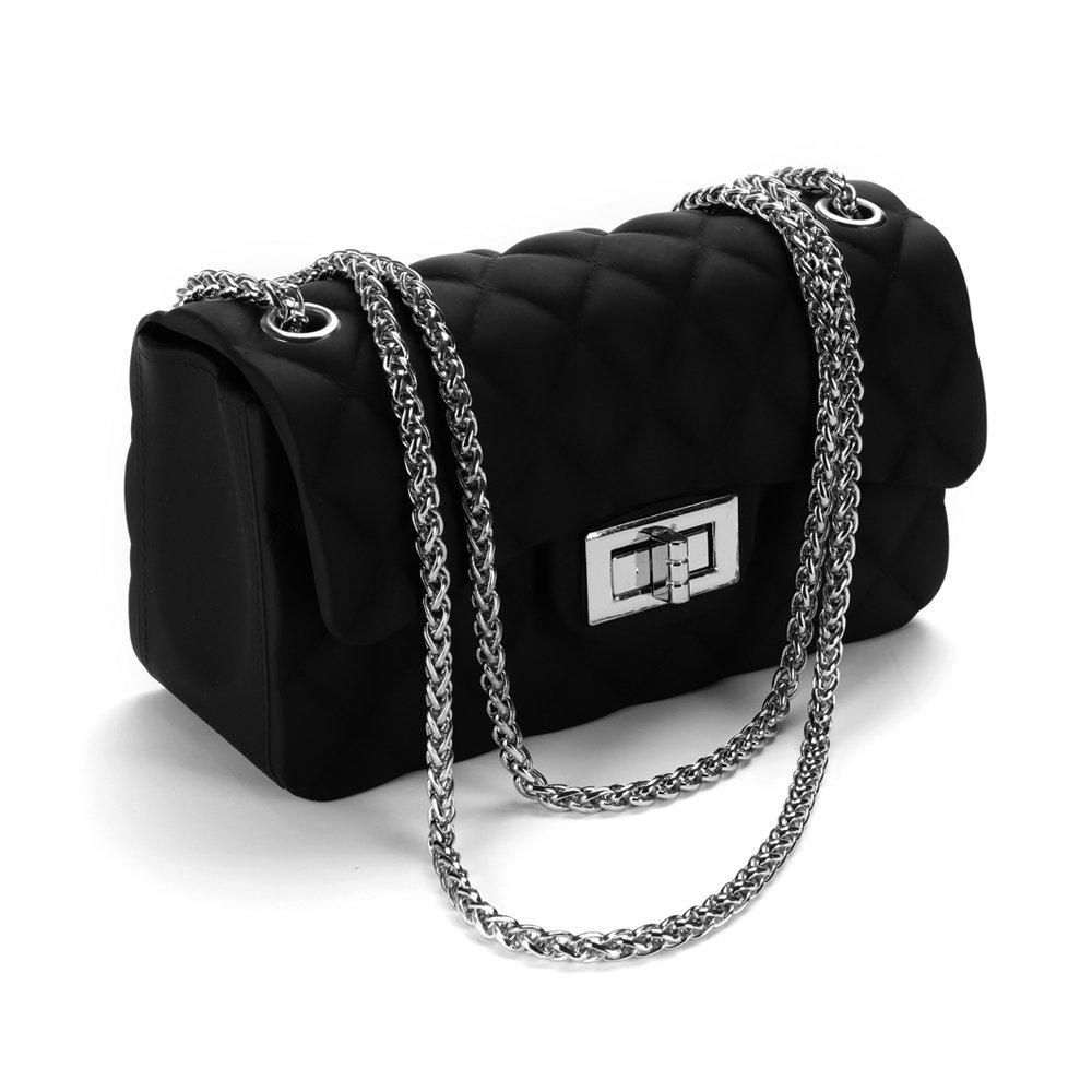 Women's Quilted PU Leather Cross-body Bag Girls Purse & Handbags Chain Small Messenger Bag