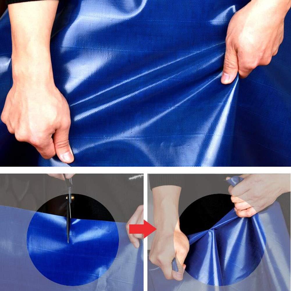 XUERUI シェルター ターポリン 防水シート 防水シート にとって アウトドア 雨を守る 650g/m² ヘビーデューティ スポーツ アウトドア (Color : 青, Size : 3x5m) 青 3x5m